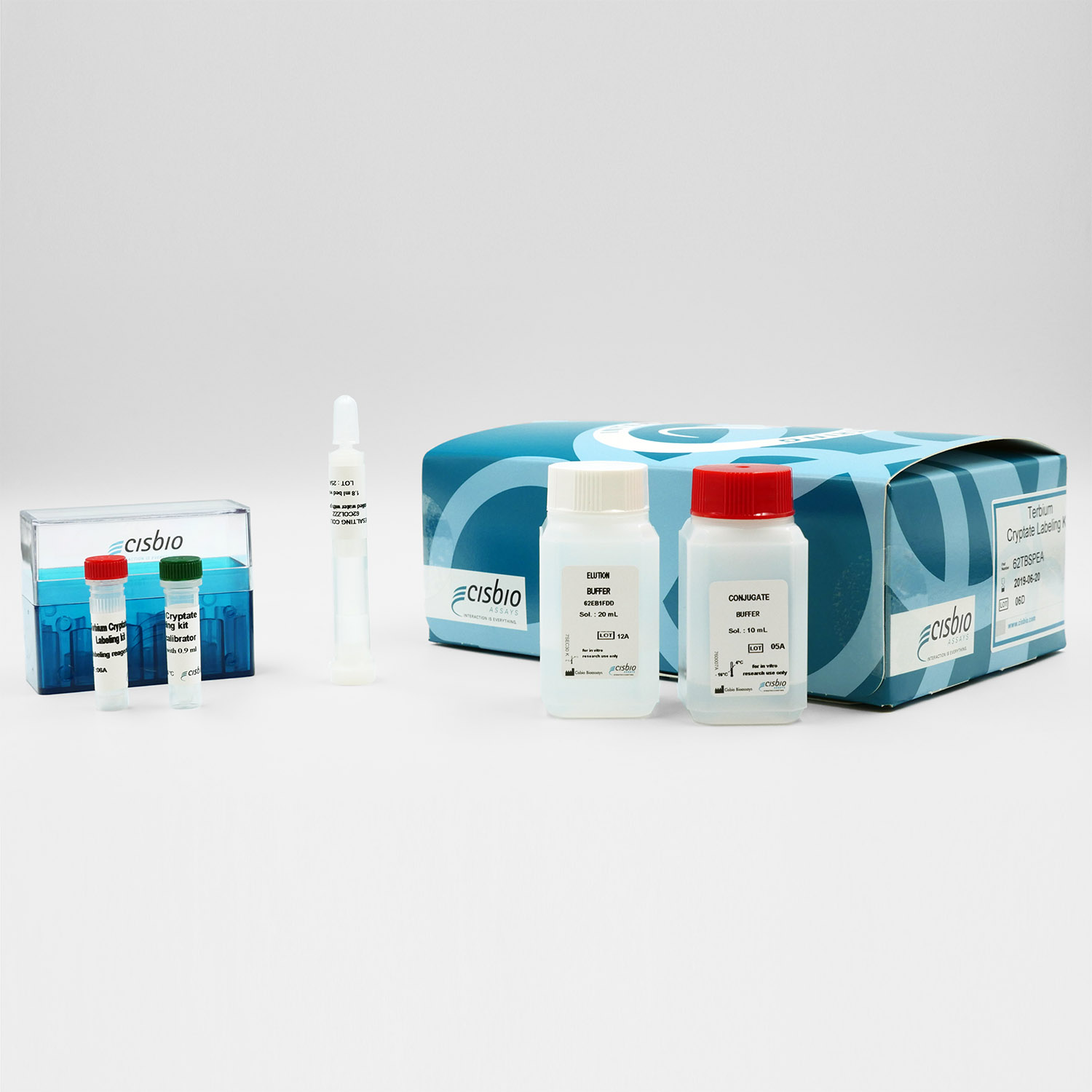 Photography of the Europium cryptate Labeling kit