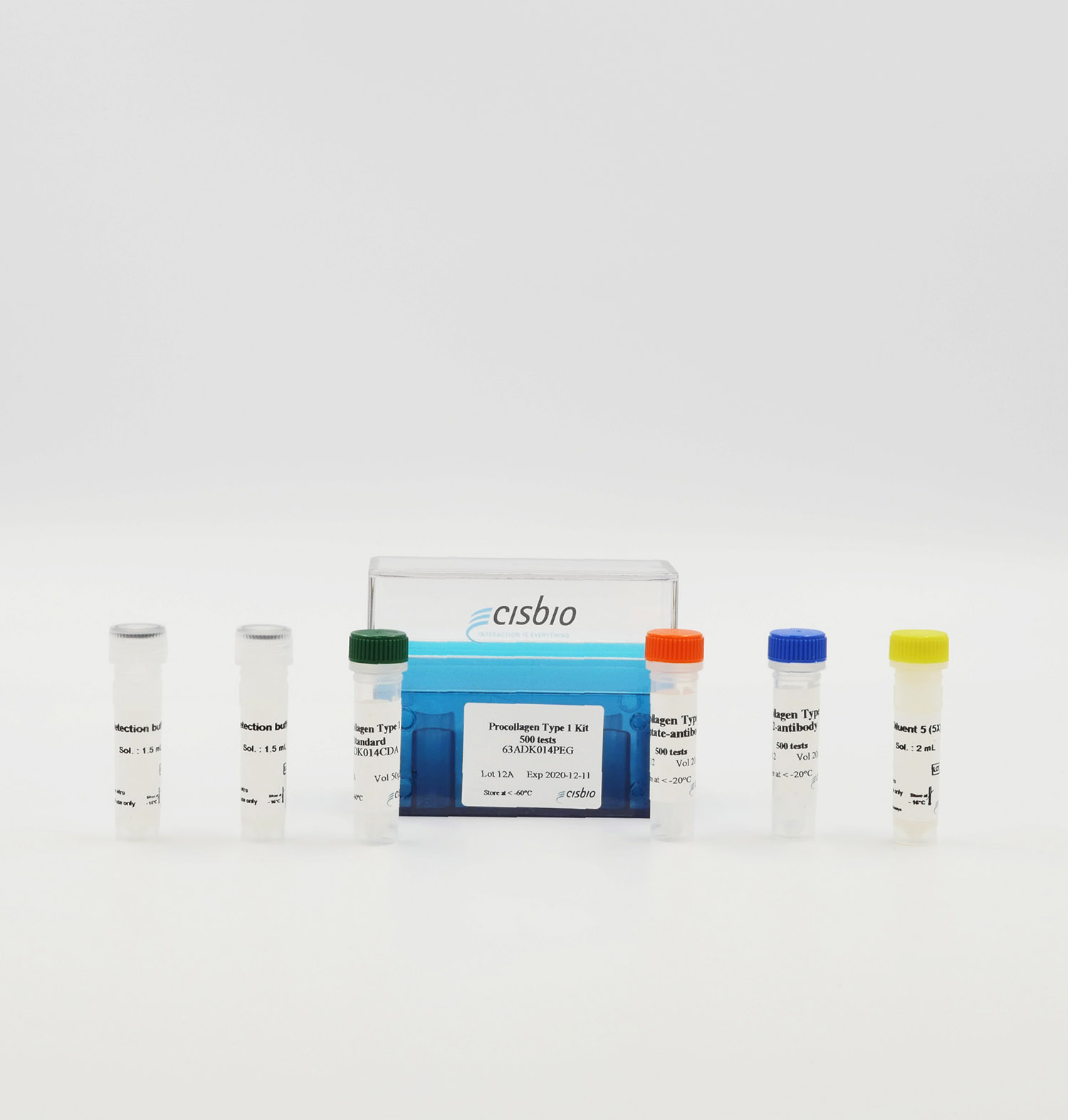 Photography of human pro-collagen kit