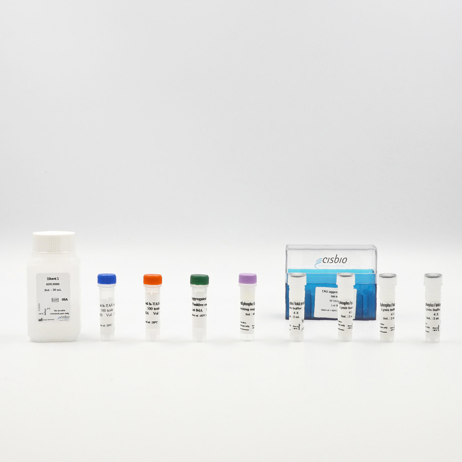 Photography of the Tau aggregation assay kit
