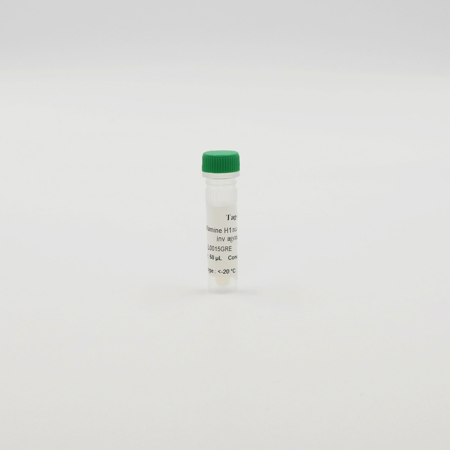 Photography of Histamine H1 receptor green inv ago vial