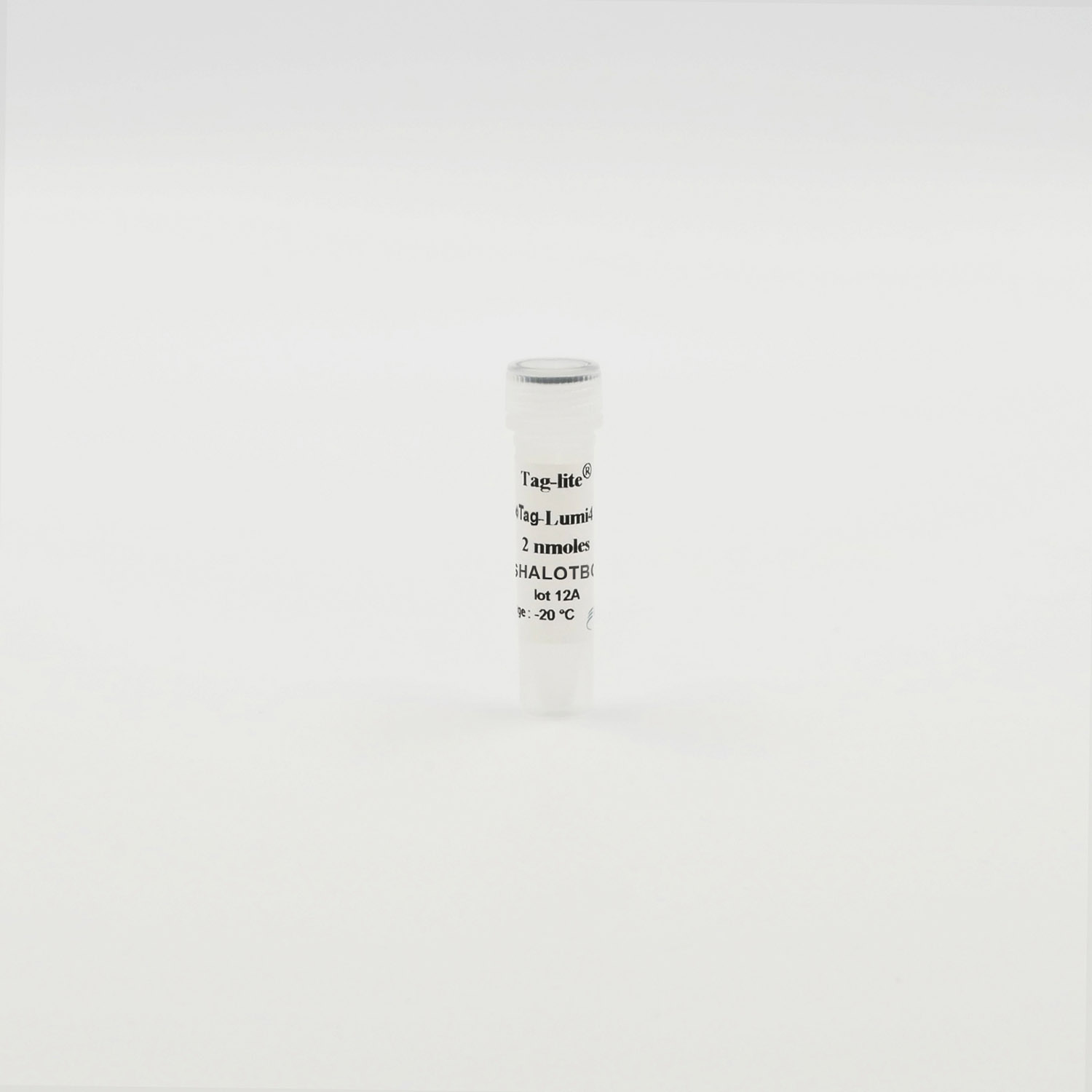 Photography of HaloTag-Lumi4-Tb vial