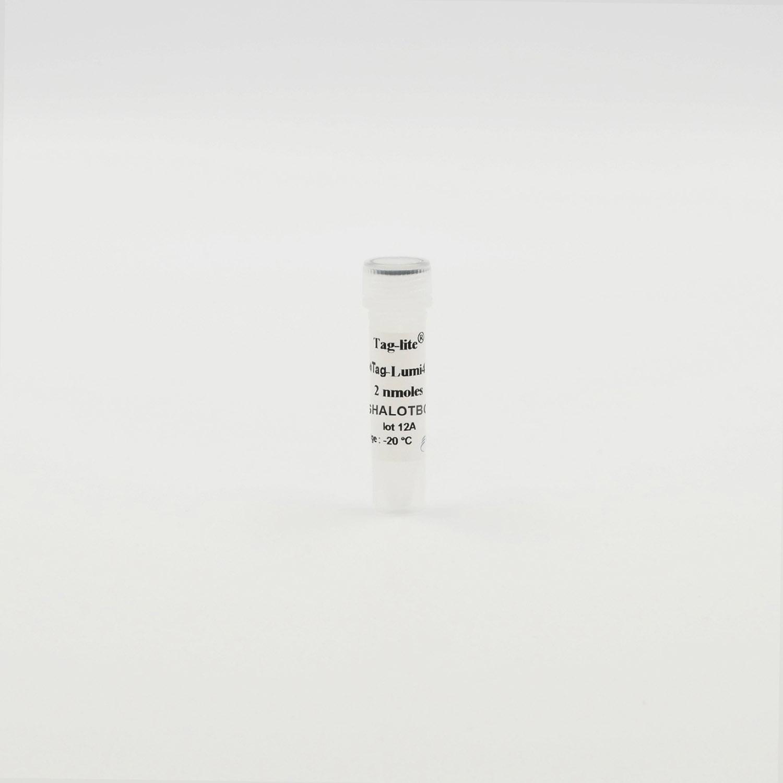 Photography of HaloTag-Lumi4-Tb vial